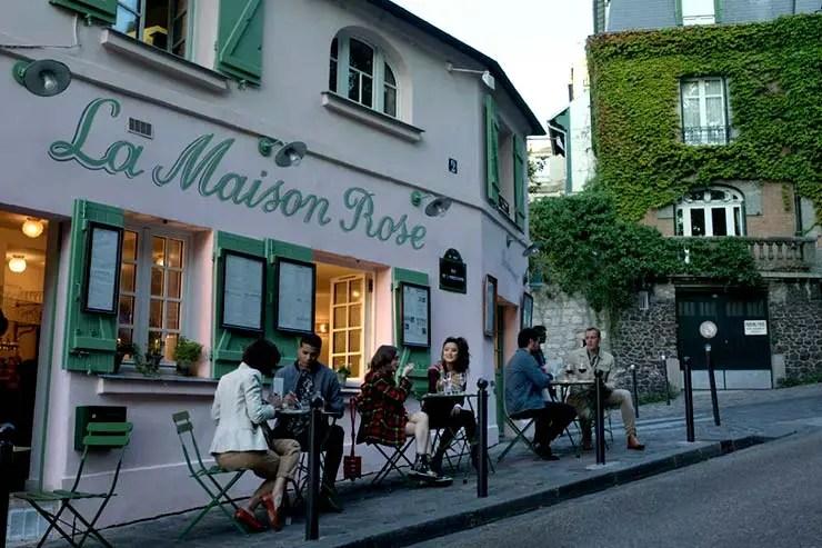 Montmartre como locação de restaurantes de Emily em Paris