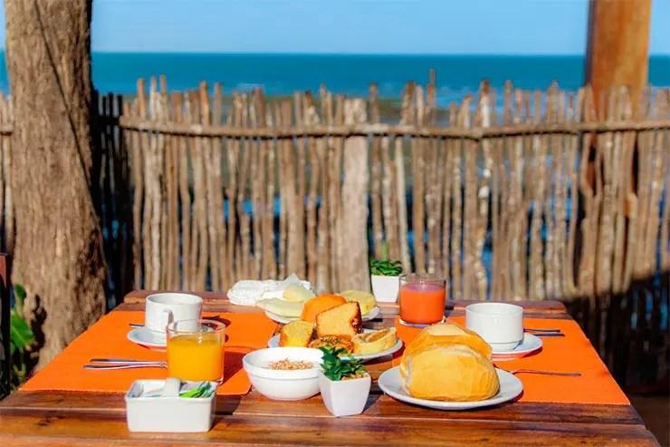Café da manhã da pousda Ponta da Pedra em Jericoacoara (Foto: Divulgação)