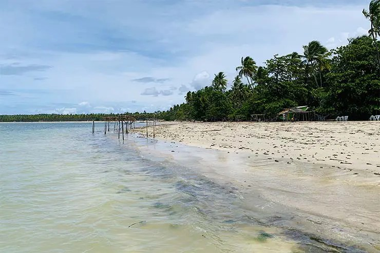 Vista da Praia de Tassimirim em Boipeba