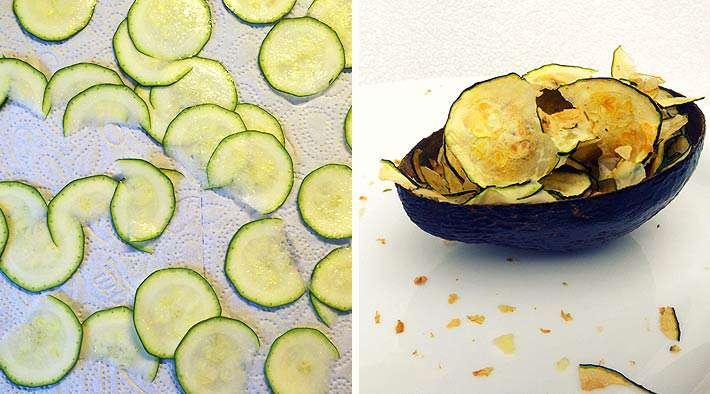 Knusprige LowCarb ZucchiniChips  Low Carb Rezepte