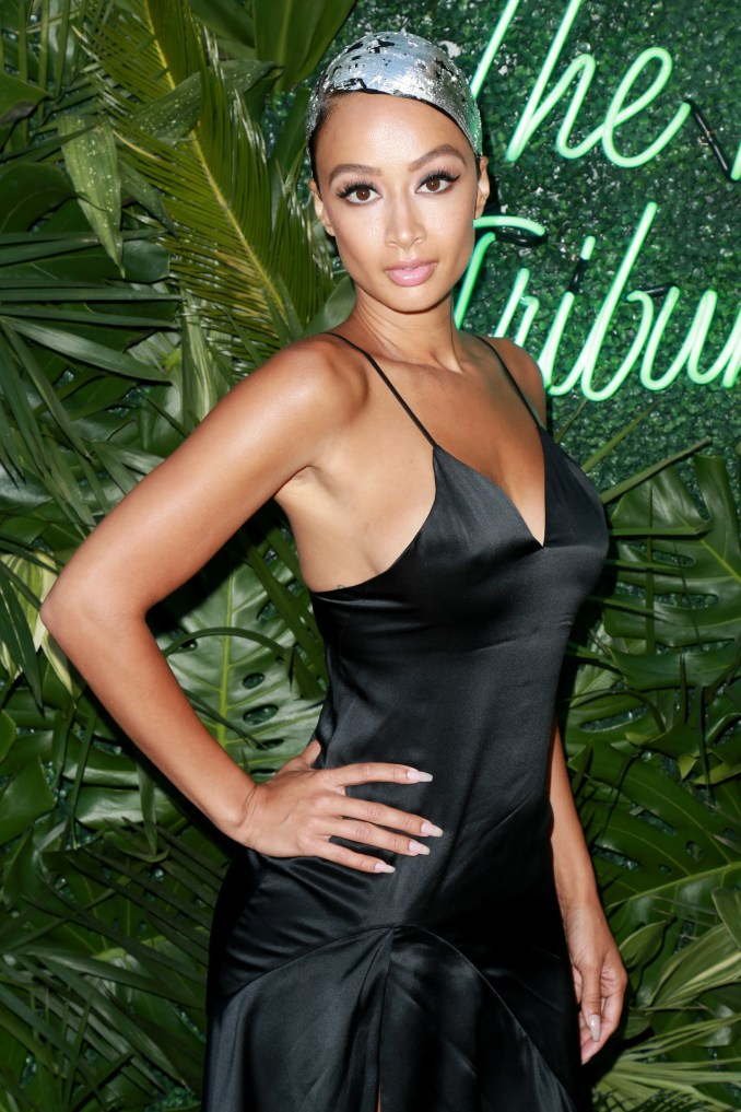 draya michele hits red carpet in silver foil hair - essence