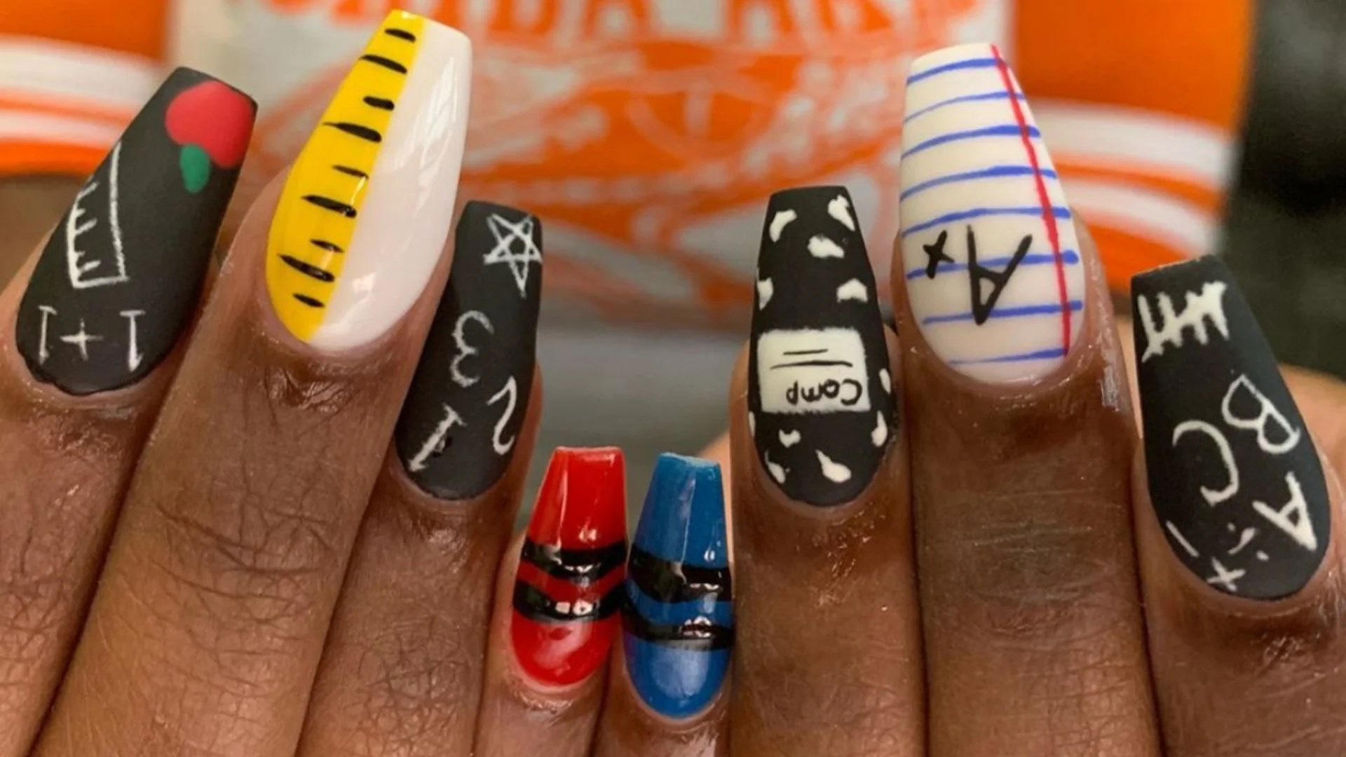 These Nails Bring The Fun To Going Back To School  Essence