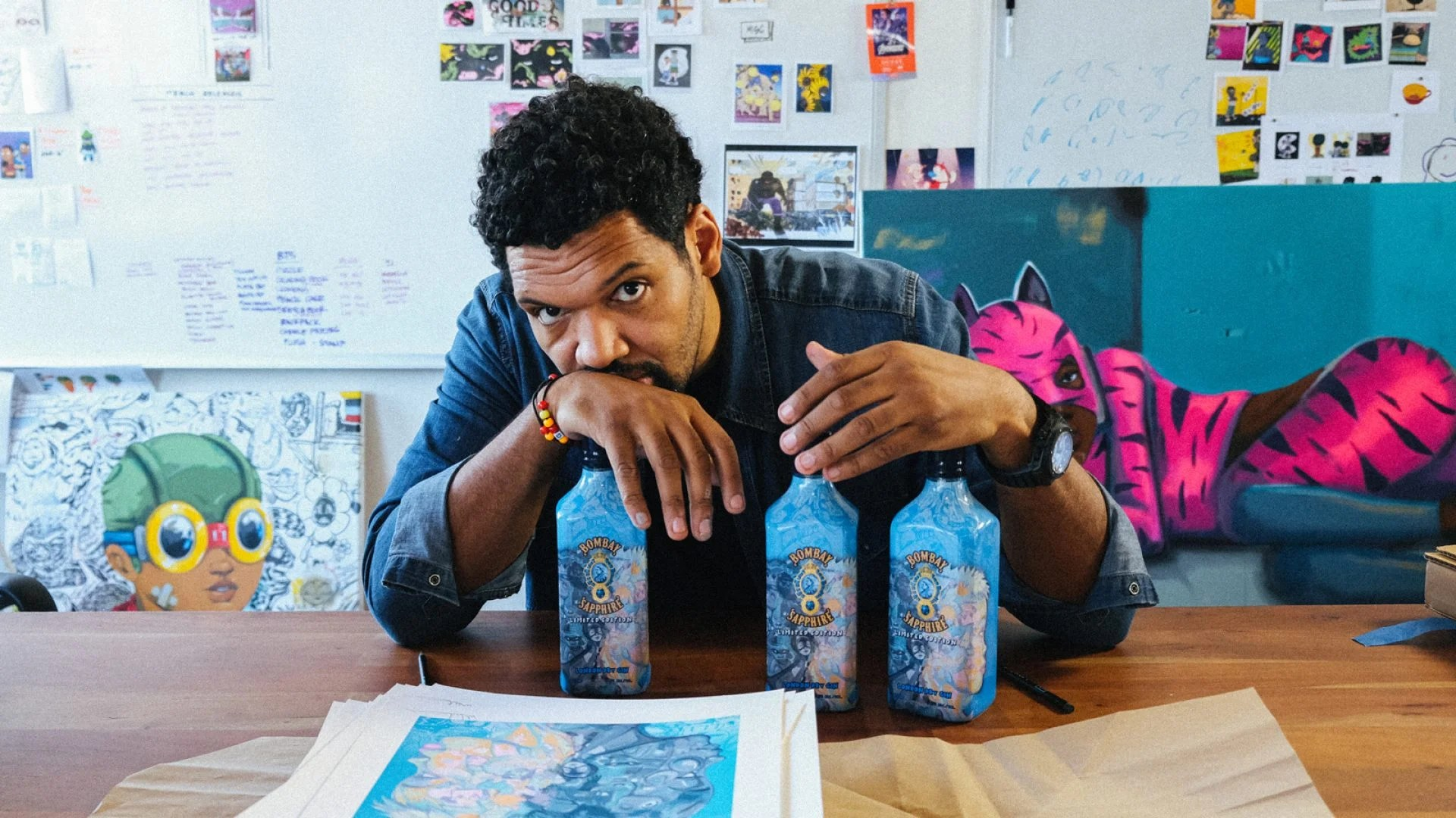 Artist Hebru Brantley Designs First Limited Edition Bombay Bottle