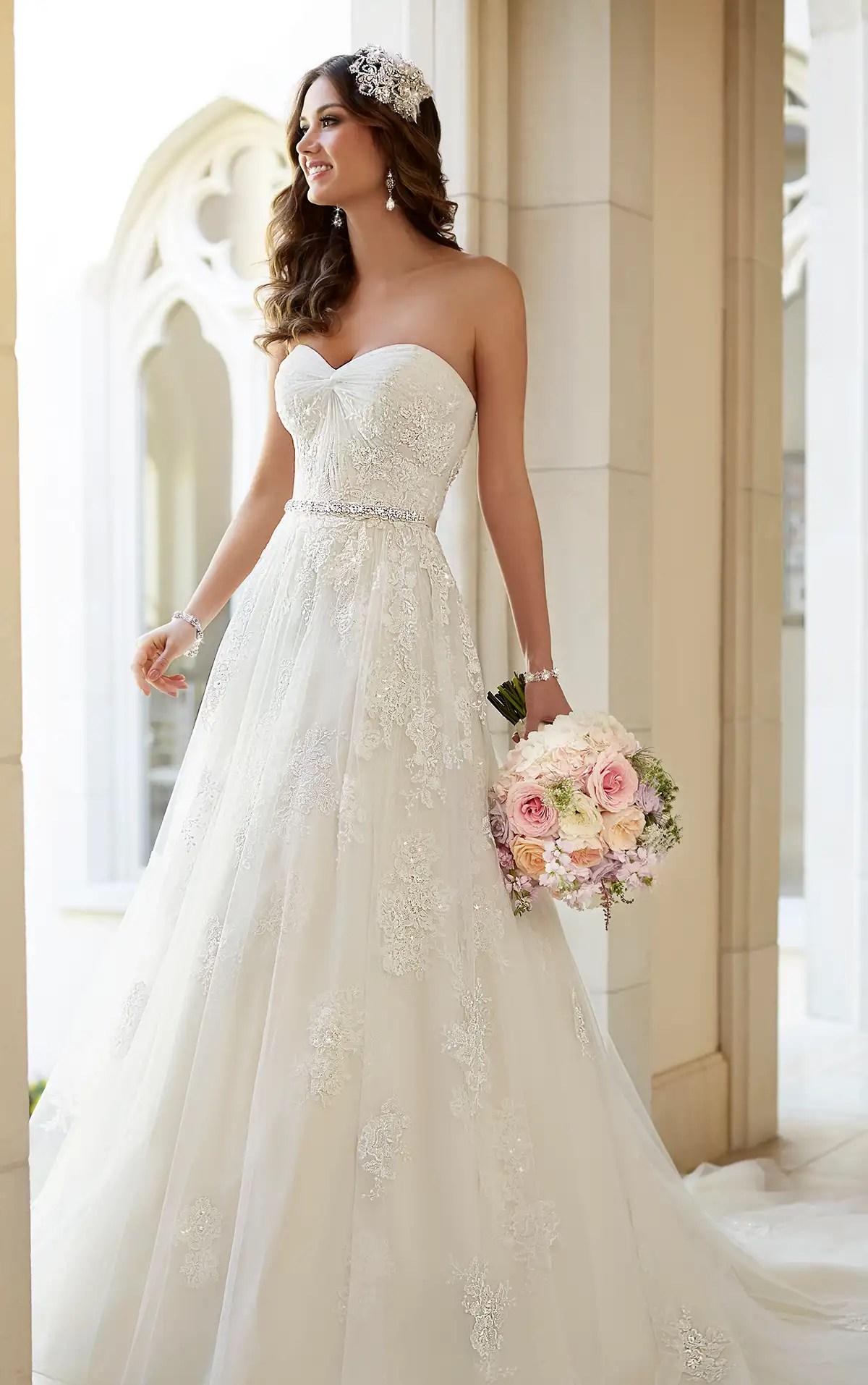 Flowing Tulle ALine Wedding Dress  Stella York Wedding Dresses