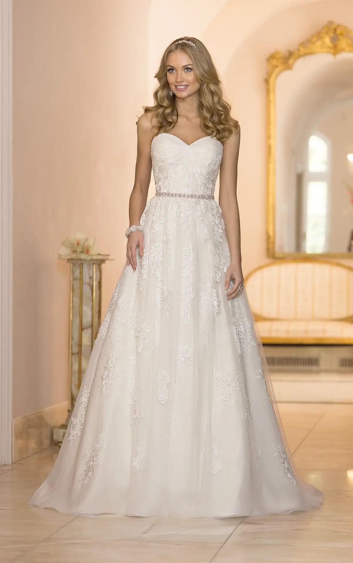 Flowing Tulle ALine Wedding Dress  Stella York Wedding