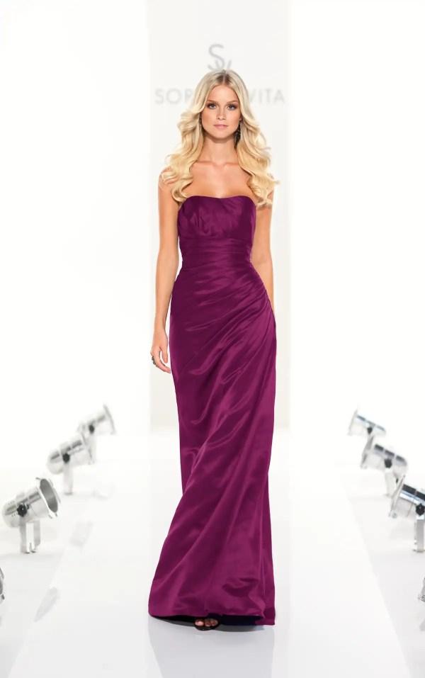 Bridesmaid Dresses Dark Purple