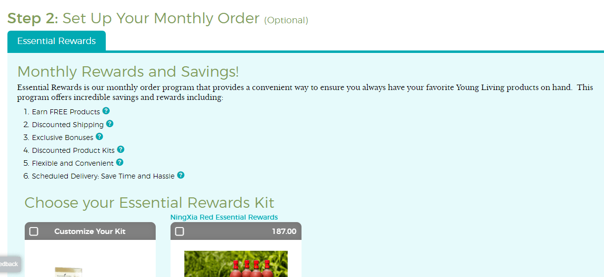 essential oil monthly order