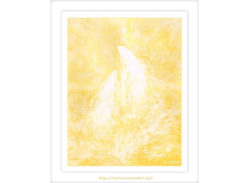 光の龍神 アクリル画