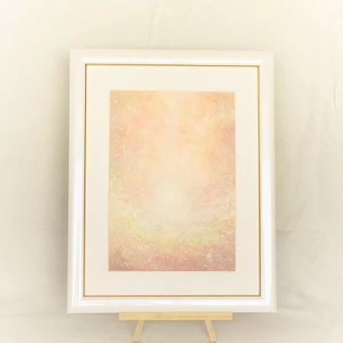 アクリル絵画 愛の光 太陽からの贈り物画像