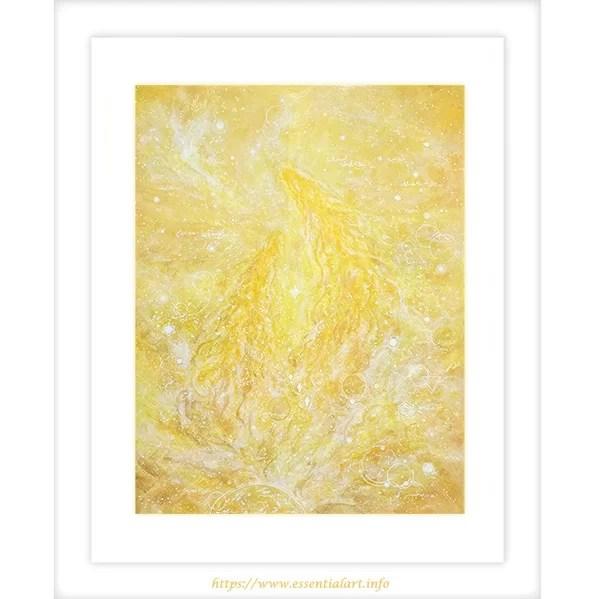 光の龍神 アクリル画の絵画