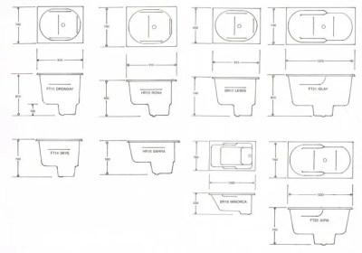 Hebrides Compact Tub Baths Technical Data
