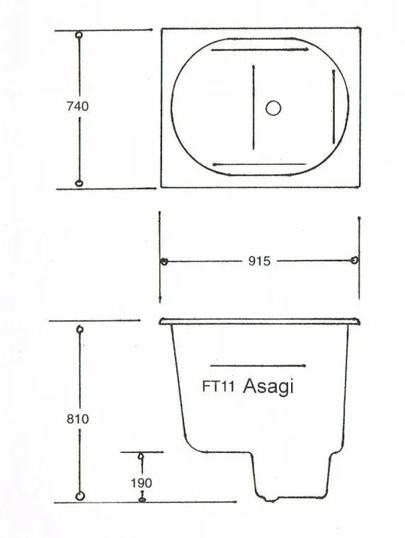 The Asagi Japanese Spa Bath Main Technical