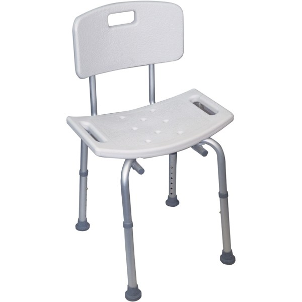 Neptune Shower Stool With Back - Essential Bathing