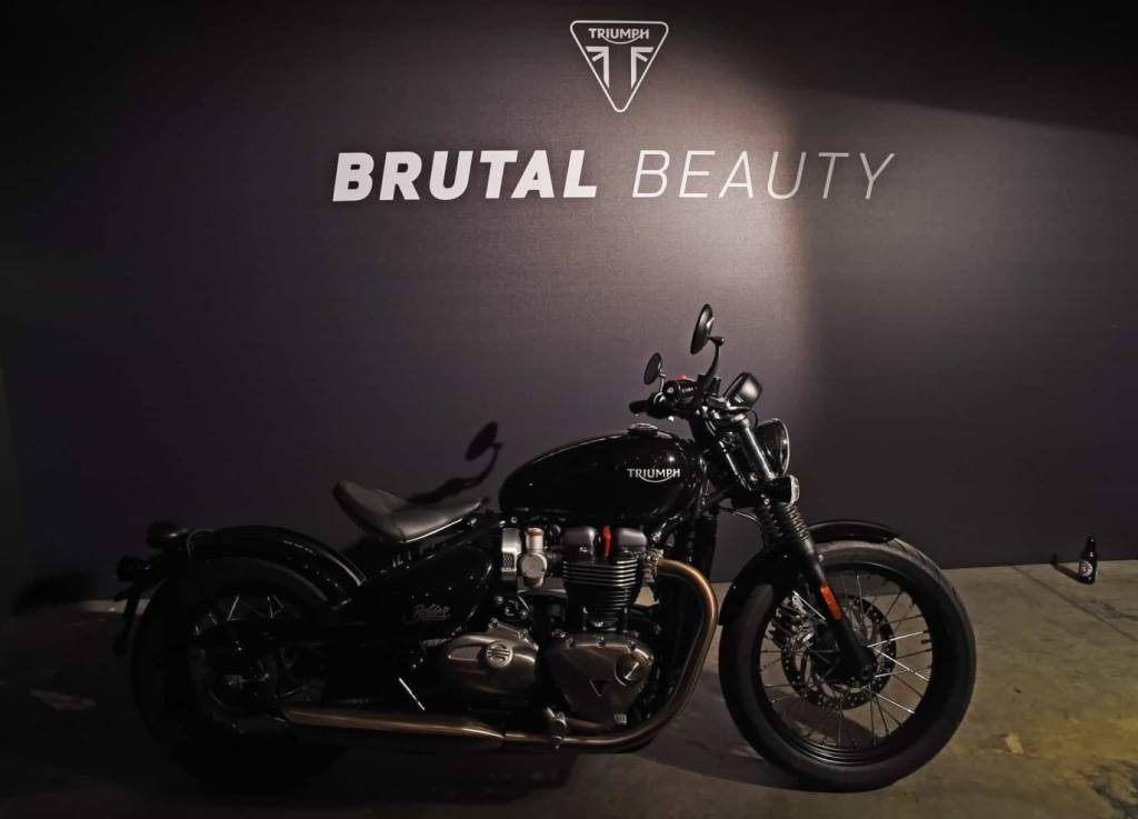 LONDON, ENGLAND - OCTOBER 19: A general view of the atmosphere at the Global VIP Reveal of the new Triumph Bonneville Bobber on October 19, 2016 in London, England. (Photo by David M. Benett/Dave Benett/Getty Images for Triumph Motorcycles)