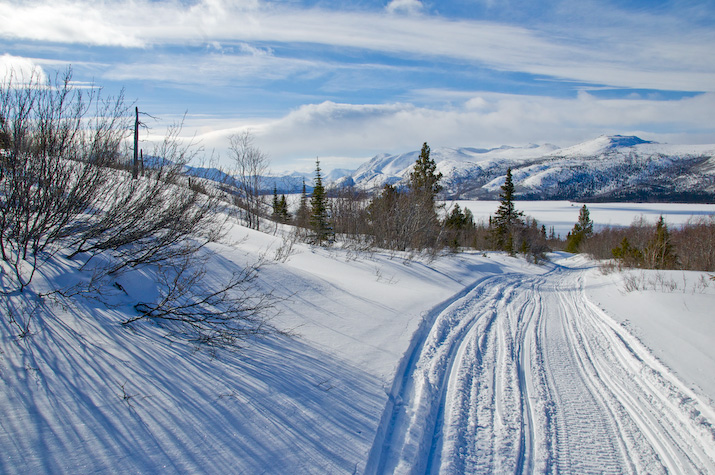 View to Fish Lake from snowmobile