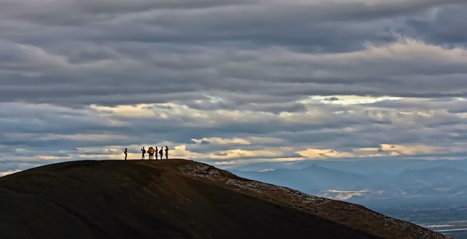 The Cerro Negro volcano