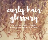 Curly Hair Glossary