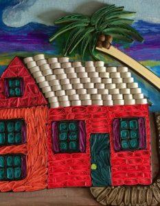 Quilled Art House closeup