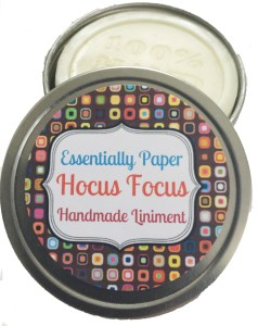 HF-238x300 Hocus Focus Essential Oil Liniment available online at our Etsy Shop @EssentiallyPaperShop