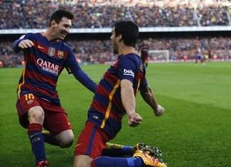 Luis Suarez Lionel Messi Barcelona v Atletico Madrid