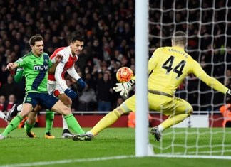 Forster saves Sanchez shot