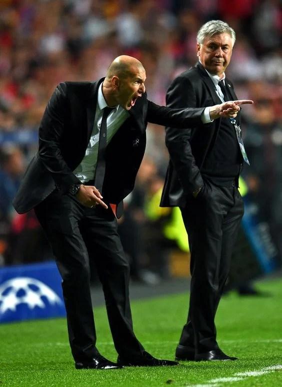 Carlo Ancelotti vs Zinedine Zidane- The Master vs The ...