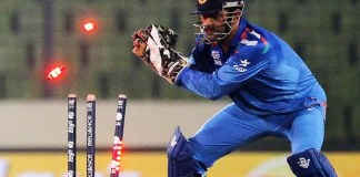 Dhoni's swagger