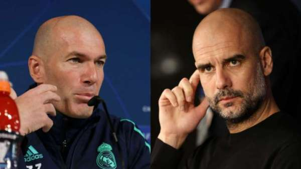 Champions League Zidane Guardiola Man City Real Madrid
