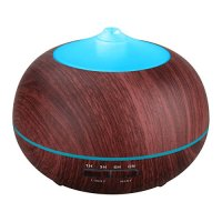 TONERONE Essential Oil Diffuser 400ml Wood Grain Cool Mist Aromatherapy Humidifier Ultrasonic Aroma Humidifier for Office, Baby Room, Bedroom, Conference room, fitness room (Black)