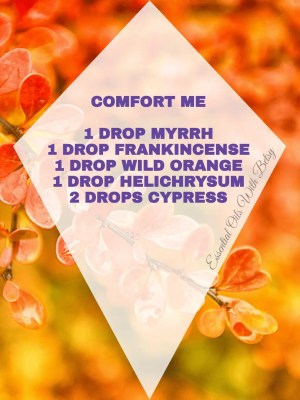 15 BRAND NEW ESSENTIAL OIL BLENDS COMFORT ME: 1 DROP MYRRH 1 DROP FRANKINCENSE 1 DROP WILD ORANGE 1 DROP HELICHRYSUM 2 DROPS CYPRESS