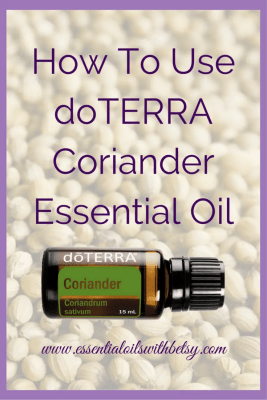Click here to learn about doTERRA essential oils. doTERRA Coriander essential oil is useful for the digestive and hormonal systems. It is high in alcohols, which uplift mood, support sleep, support healthy circulation, and support endocrine system health. It is steam distilled from coriander seed.