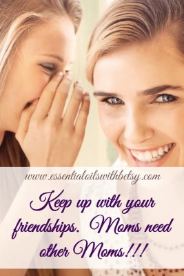 PAMPERING MOM - IDEA FOUR Take time to keep up with your friendships. I know... being a Mom is such a busy job and there are hardly enough hours in the day. It is so easy to let friendships go neglected. We have all been guilty and understand each other here (after all, your friends are probably Moms too!). Yet that shouldn't be an excuse, because Moms need other Moms! The thing is, when we neglect our friendships, we neglect nurturing a core part of ourselves. Friendships are valuable in helping us to look outside ourselves and take on a more positive mindset. Who doesn't feel better after chatting with a good friend? I know that when I connect with my Mom friends on a regular basis, I feel so much better about myself.