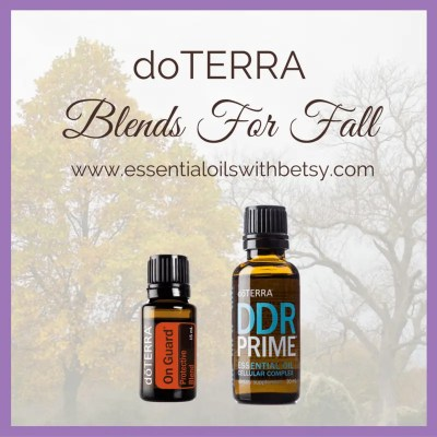 doTERRA bllends for fall. doTERRA On Guard and DDR Prime In addition, if you enjoy these fall scents, you will also love doTERRA On Guard and doTERRA DDR Prime oil. Both of these doTERRA blends have a wonderful aroma that immediately brings the scents of autumn to mind for me! On Guard is my husband's favorite essential oil, so we are often diffusing it!