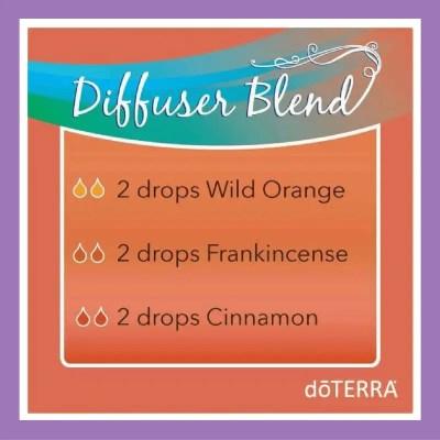27 doTERRA diffuser blends | Essential Oil Diffuser Blend - 2 drops Wild Orange 2 drops Frankincense 2 drops Cinnamon