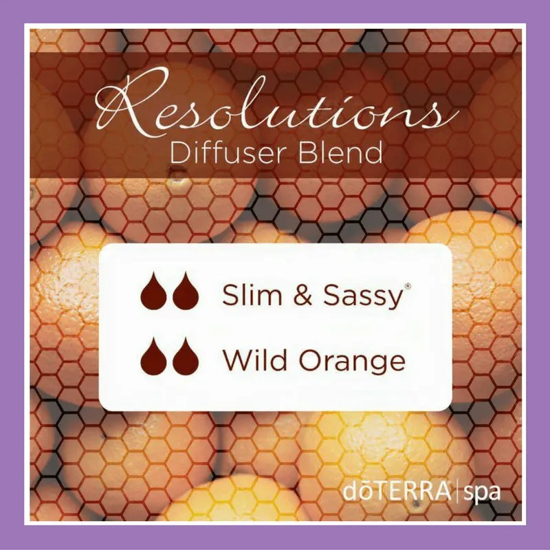 27 doTERRA diffuser blends | Resolutions Diffuser Blend - 2 drops Slim & Sassy 2 drops Wild Orange