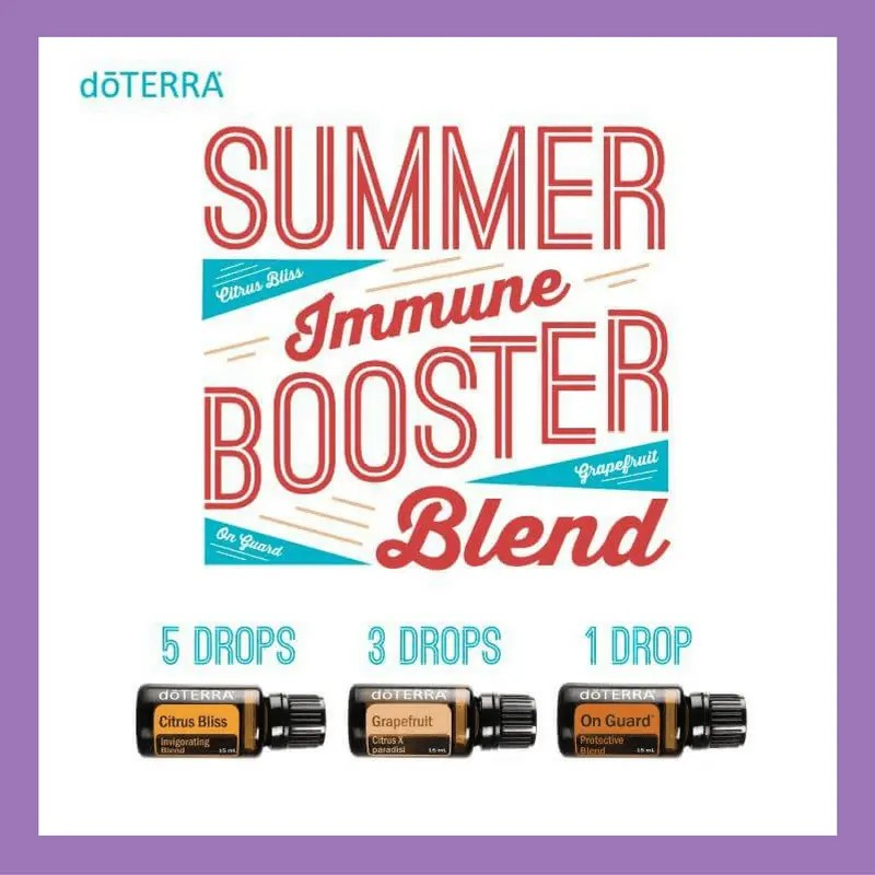 27 doTERRA diffuser blends |Summer Immune Booster Blend - 5 drops Citrus Bliss 3 drops Grapefruit 1 drop OnGuard