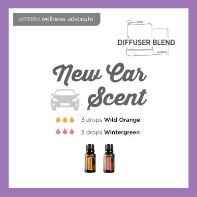 27 doTERRA diffuser blends | New Car Scent - 3 drops Wild Orange 3 drops Wintergreen