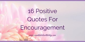 16 Positive Quotes For Encouragement