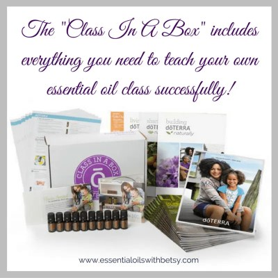 """What Materials Do I Need For My First Essential Oil Class? If your upline is teaching your first class for you, they will likely have their own materials. I provide all class materials for my local downline when teaching. However, if you don't have local upline available to teach your first essential oil class, you can still do this successfully! A great option is to look for the """"Class In A Box Kit"""" provided in your doTERRA back office. The """"Class In A Box Kit"""" will be located under the business tools section and includes everything you need to teach your own first essential oil class successfully!"""