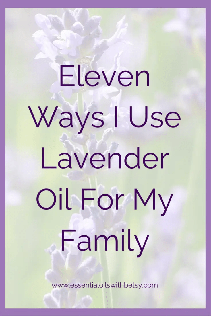 Eleven Ways I Use Lavender Oil For My Family Lavender oil is a wonderful choice for a family. It is the first essential oil I ever used and remains a personal favorite. Here's why! Eleven Ways I Use Lavender Oil For My Family Tension And Stress When I was first introduced to essential oils, I had a lot of stress and tension in my life. My son was a newborn and not sleeping well. My daughter was just over two and getting into everything. We had even just moved! When I began to feel the calming effects of lavender oil, it was like a lightbulb went on. This single oil opened me up to natural health options. I learned that I could put a few drops of lavender into the bath, and soak away my stress and tension late at night after the kids were finally asleep.