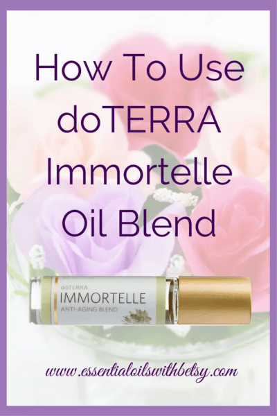 doTERRA Immortelle Anti-Aging Blend doTERRA Immortelle blend of essential oils is primarily useful for nourishing the skin. It also helps ease feelings of stress and tension. The beautifully fragrant anti-aging blend comes in a roller bottle so it's easily used topically. Continue reading to learn more!