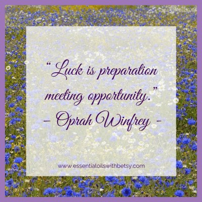Luck is preparation meeting opportunity.