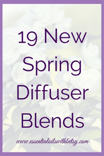 19 New Spring Diffuser Blends Would you like some new Spring diffuser blends to enjoy? My collection of spring oil blends for the diffuser is beautifully fragrant. Not only for the springtime. But year around! Use these new spring diffuser blends to freshen your home. And enjoy the health benefits, too! Photo Gallery Of New Spring Diffuser Blends