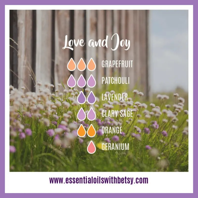 Love and Joy essential oils diffuser blend
