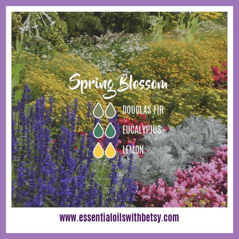 Spring Blossom Diffuser Blend 2 drops of Douglas Fir 2 drops of Eucalyptus 2 drops of Lemon