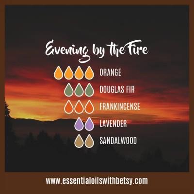 Evening By The Fire: Orange, Douglas Fir, Frankincense, Lavender, Sandalwood