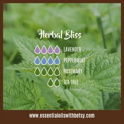 Essential Oil Blend Herbal Bliss: Lavender, Peppermint, Rosemary, Tea Tree (Melaleuca)
