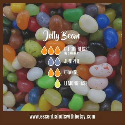 Jelly Bean Diffuser Oil Blend: Citrus Bliss, Juniper, Orange, Lemongrass