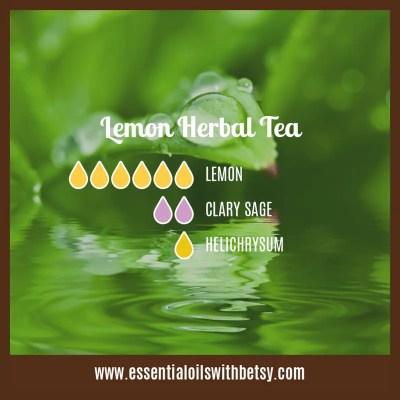 Lemon Herbal Tea Diffuser blend: Lemon, Clary Sage, Helichrysum