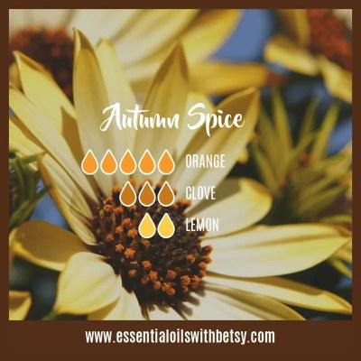 Autumn Spice Fall Diffuser Blends: Orange, Clove, Lemon